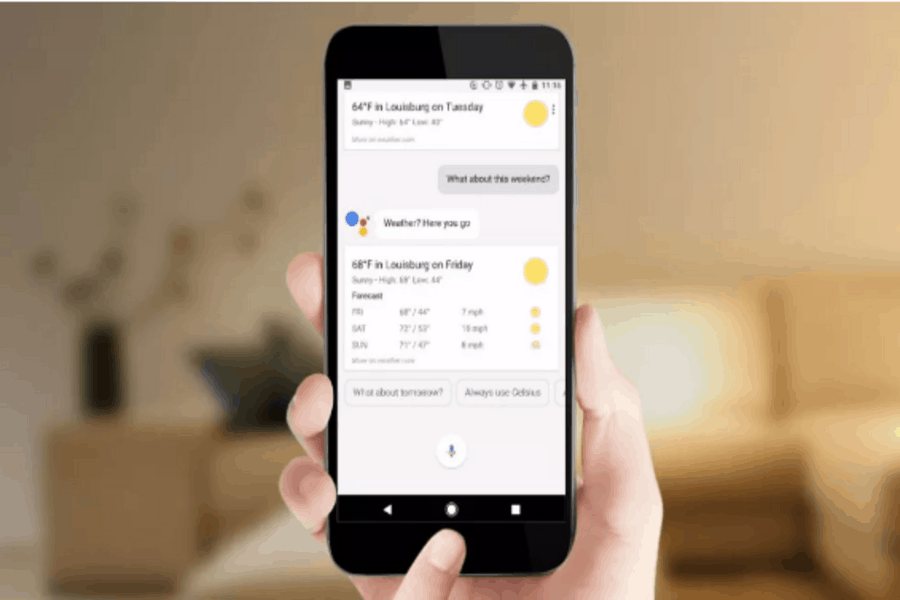 Weather Google Assistant Voice Command