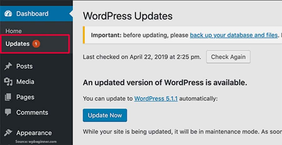 Make Sure That The Website Software Remains Updated